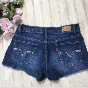 Levi's Shorty High Waisted Denim Cut Off Shorts